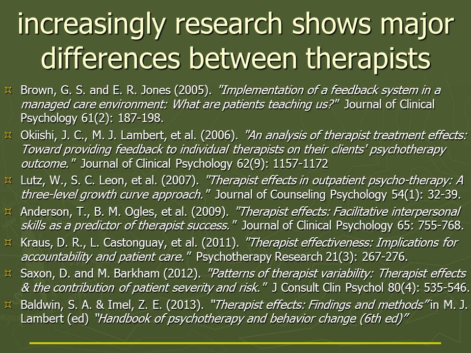 therapist variability